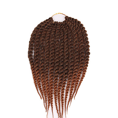 Havana Tranças torção Extensões de cabelo 12 16 20 24 inch Kanikalon 12 roots/pac costa 100 g/pack grama Tranças de cabelo