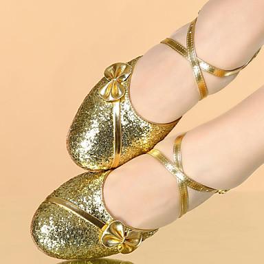 baratos Super Ofertas-Mulheres Sapatos de Dança Paetês Sapatos de Dança Latina Laço Sandália Salto Personalizado Personalizável Vermelho / Rosa claro / Dourado / Interior / EU40