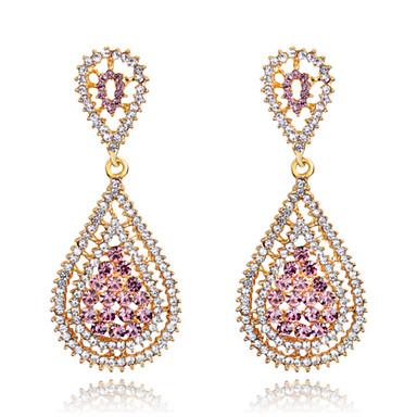 Damen Kristall Ohrring - Modisch Rosa Für Hochzeit / Party / Alltag / Diamant / Multi-Stein / Zirkon