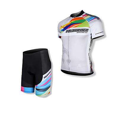 SPAKCT Homens Manga Curta Camisa com Shorts para Ciclismo - Preto Moto Shorts Camisa/Roupas Para Esporte Conjuntos de Roupas, Tapete 3D,