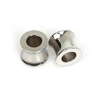 beadia 5pcs esferas 8x9mm aço inoxidável espaçadores para fazer jóias (Hole 5mm)