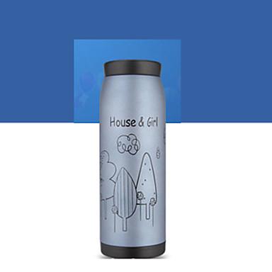 1pc 500ml ventouse en acier inoxydable bouteille portable conception aléatoire