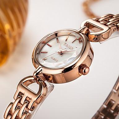 בגדי ריקוד נשים שעוני שמלה שעון צמיד קווארץ קוורץ יפני / סגסוגת להקה יום יומי כסף זהב ורד
