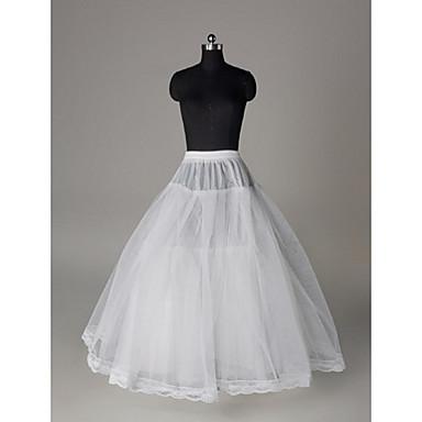 חתונה תחתונית  רשתות בד טול אורך עד לרצפה סליפ שמלת נשף עם