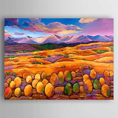 Håndmalte Landskap Parfymert / Moderne,Et Panel Lerret Hang malte oljemaleri