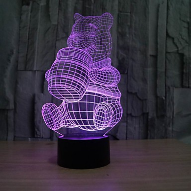 lumière de nuit 3d produits caricatures lampe bébé forme couleur changeante lumière de nuit