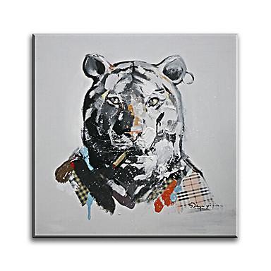 יד מצויר מודרני בעלי חיים בסגנון שמן ציור הביתה