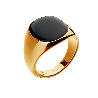 voordelige Herensieraden-Heren Ring Zegelring Bezel set ring Onyx Cat's Eye Chrysoberyl 1pc Zilver Gouden 18 Karaats Verguld Punk Modieus Hip-hop Kerstcadeaus Feest Sieraden