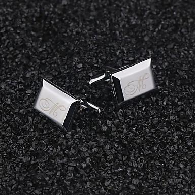 abordables Cadeaux de Mariage-alliage de zinc Boutons de manchettes & Clips de cravate Marié Groom Mariage Anniversaire