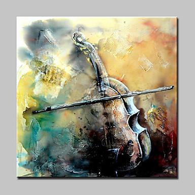 מצויר ביד טבע דומם ריבוע, מודרני בַּד ציור שמן צבוע-Hang קישוט הבית פנל אחד