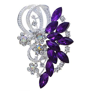 hesapli Moda Broşlar-Kadın's Broşlar Markiz Vintage Moda Yapay Elmas Broş Mücevher Mor Mavi Uyumluluk Düğün Parti Özel Anlar Doğumgünü Hediye Günlük