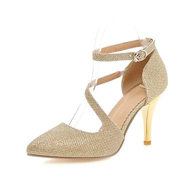 kvinners sko pu stiletto hæl hæler / spiss tå hæler kontor&karriere / uformell silver / gold
