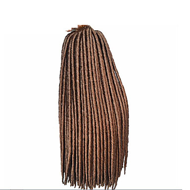 #27 Havana / Heklet dreadlocks Hårforlengelse 14 18 inch Kanekalon 24 Strand 115-125 gram Hair Braids