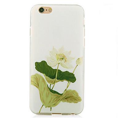 Pour Coque iPhone 6 Coques iPhone 6 Plus Etuis coque Antichoc Coque Arrière Coque Fleur Flexible PUT pour AppleiPhone 6s Plus iPhone 6