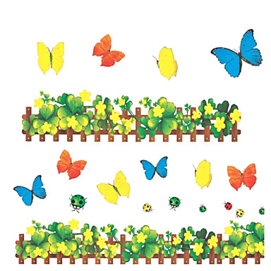 fantasi Veggklistremerker Fly vægklistermærker Dekorative Mur Klistermærker Klistermærker til kontakter Toilet klistermærker Materiale