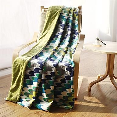 Flanela,Estampado e Jacquard Curva 100% Algodão cobertores