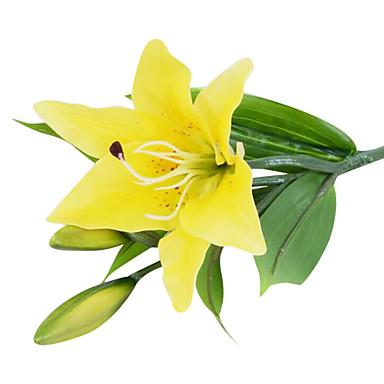 1 Gren Liljer Bordblomst Kunstige blomster