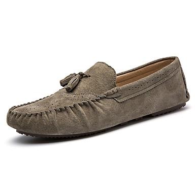 Masculino sapatos Camurça Primavera Verão Outono Inverno Mocassins e Slip-Ons Para Casamento Casual Festas & Noite Preto Azul Escuro Khaki