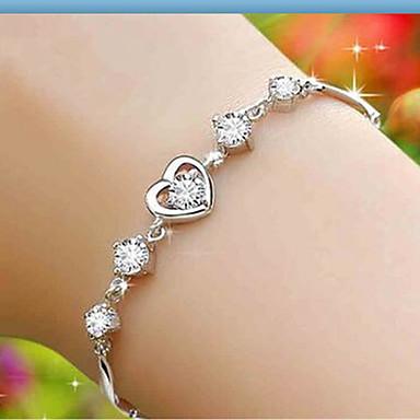 Damen Sterling Silber Anderen Ketten- & Glieder-Armbänder - Modisch Weiß Armbänder Für