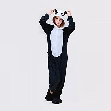 Adults  Kigurumi Pajamas Panda Onesie Pajamas Polyester Black   White  Cosplay For Men and Women 7ec2151a381b0