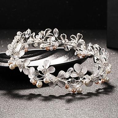 Krystall Künstliche Perle Strass Tiara Kopfschmuck