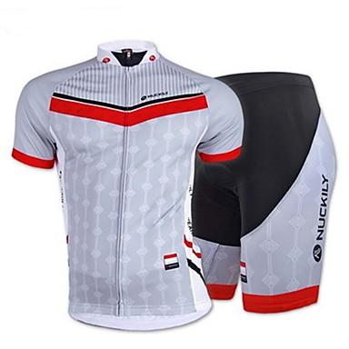 Camisa com Shorts para Ciclismo Homens Manga Curta Moto Blusas Calças Respirável Elástico Redutor de Suor Grade Primavera Verão Outono