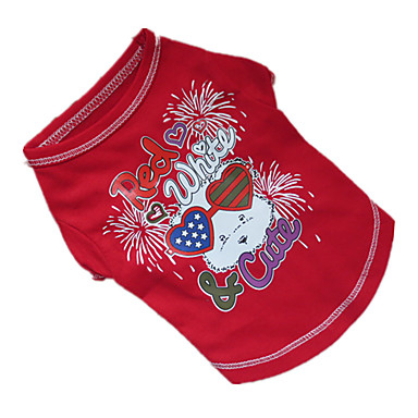 Hund T-shirt Hundekleidung Purpur / Rot / Blau Baumwolle Kostüm Für Haustiere Sommer