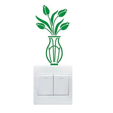 fritid Wall Stickers Fly vægklistermærker Dekorative Mur Klistermærker / Klistermærker til kontakter,PVC Materiale Kan fjernes Hjem Dekor