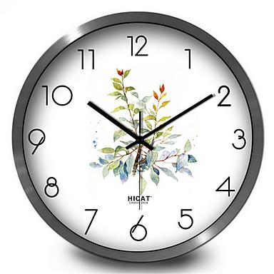 Moderne/Contemporain Autres Horloge murale,Rond Métal Intérieur/Extérieur Horloge