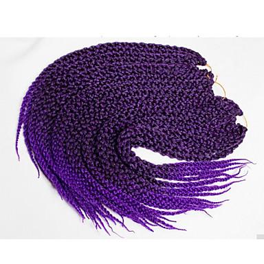 Tresses Twist Twist cubique Kanekalon Noir de jais 1b / violet burgundy 1b / # 27 1b / # 30 Extensions de cheveux 56cm Cheveux Tressée