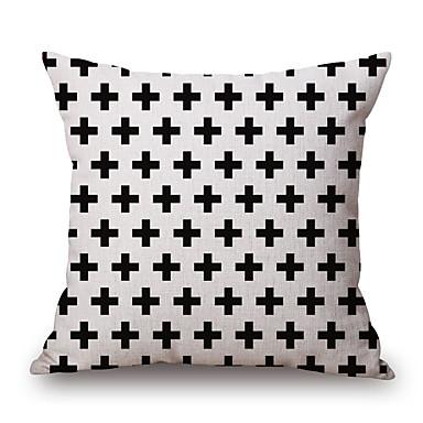 Stück Baumwolle/Leinen Kissenbezug, Geometrisch Grafik-Drucke Freizeit Modern/Zeitgenössisch