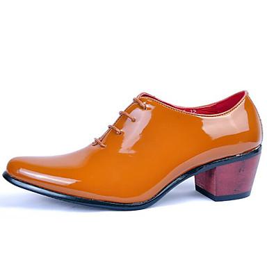 de los hombres de los zapatos de la boda / oficina&carrera / partido&oxfords noche / vestido / de charol negro ocasional /