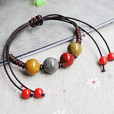 Damen loom-Armband Modisch Keramik Stoff Ovale Form Runde Form Kaffee Schmuck Für Alltag Normal 1 Stück
