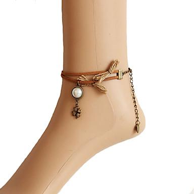 Damen Fusskettchen / Armbänder Perle Aleación Modisch Fusskettchen Körper-Kette / Bauchkette Vierblättriges Kleeblatt Schmuck Für Alltag