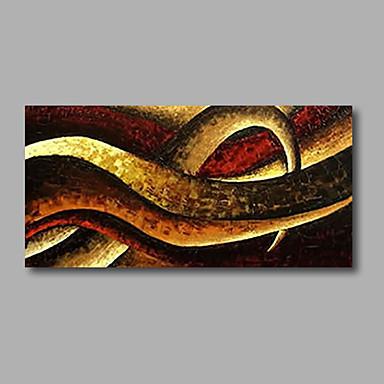 מצויר ביד מופשט אופקי, מודרני בַּד ציור שמן צבוע-Hang קישוט הבית פנל אחד