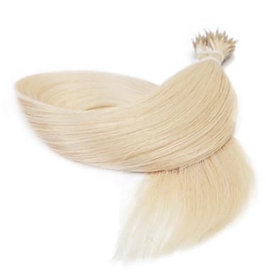 25g 16 polegadas extensão do cabelo loop de pérolas anel nano retas
