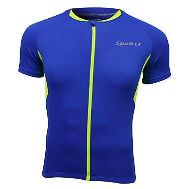 SPAKCT Camisa para Ciclismo Homens Manga Curta Moto Blusas Secagem Rápida Respirável Detalhes Refletores 100% Poliéster Clássico Esportes