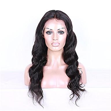שיער אנושי חזית תחרה פאה Body Wave 130% צְפִיפוּת 100% קשירה ידנית פאה אפרו-אמריקאית שיער טבעי קצר בינוני ארוך בגדי ריקוד נשים פיאות תחרה