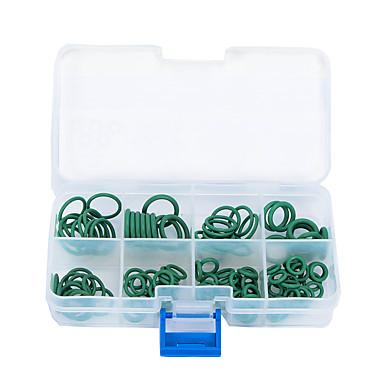 Недорогие Запчасти для автомобиля-105 шт 8 размер ГБНК кондиционированию уплотнительные кольца уплотнения уплотнительные прокладки зеленый для автомобиля