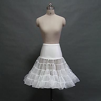 תחתונית  סליפ שמלת נשף באורך ברך 5 רשתות בד טול אקרילי לבן