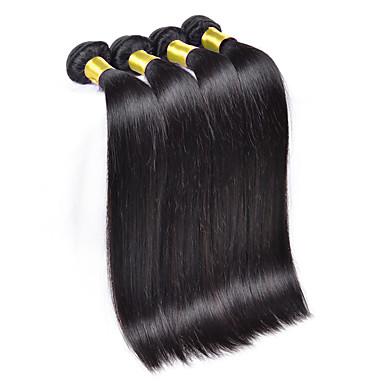 Cheveux Brésiliens Tissages de cheveux humains Droite Extensions de cheveux 3 Pièces Couleur naturelle