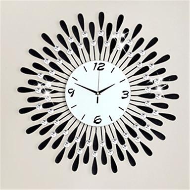 Rond Moderne/Contemporain Horloge murale,Autres Métal 62*62*7