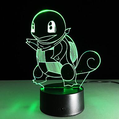 1 Pça. Luz noturna 3D USB Cores Múltiplas Vidro ABS 1 Luz Baterias Não Incluídas 22.5*17.0*4.5cm