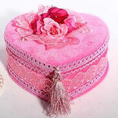 høj kvalitet fløjl hjerteformet smykkeskrin europæisk stil smykkeskrin opbevaringsboks