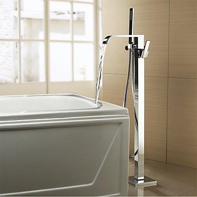 Badekarshaner - Moderne Krom Badekar & Bruser Keramik Ventil