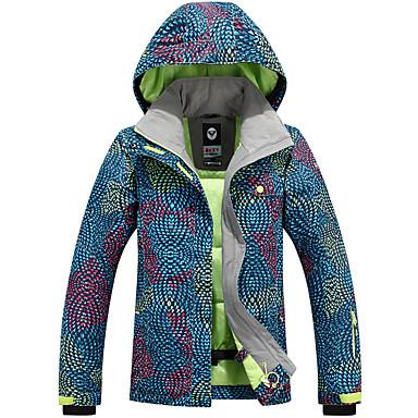 GQY® Mulheres Jaqueta de Esqui Prova-de-Água Térmico/Quente A Prova de Vento Vestível Esqui Esportes de Inverno Poliéster