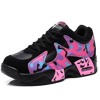 vrouwen sneakers voorjaar / zomer / herfst / winter ronde neus kunstleer sportieve sneaker