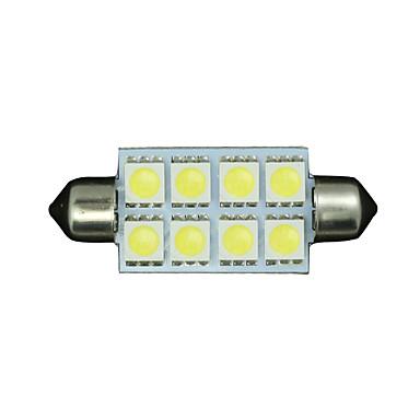 SO.K 6pcs SV8.5 Car Light Bulbs 1 W SMD 5050 130-150 lm Interior Lights