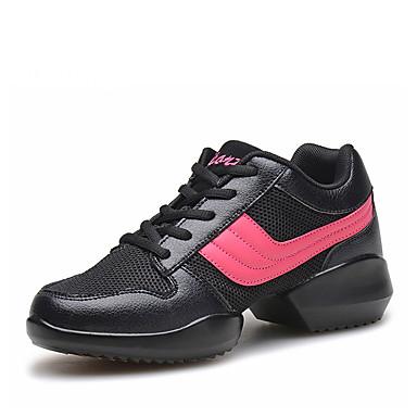 Damer Dansesko Moderne Kunstlæder Støvler Oxfords Sneakers Træning Udendørs Flade hæle Hvid Sort Kan ikke tilpasses