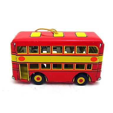 Opwindspeelgoed Speeltjes Noviteit Bus Dubbeldekker Metaal Vintage 1 Stuks Kinderen Kerstmis Geschenk